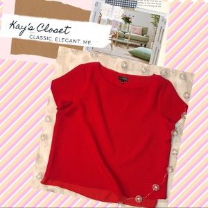 The Limited | Red Pebbled Party Blouse
